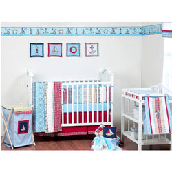 Plaids and Stripes  Boys Crib Bedding Set
