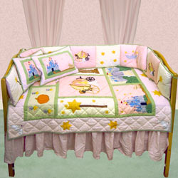 Patch Magic Group Fairy Tale Princess Fitted Crib Sheet