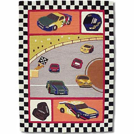 Rectangular Race Car Rug