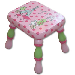 Poodle In Paris Stool