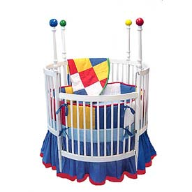 Primary Colors Round Crib