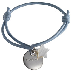 Name Engraved Star Bracelet