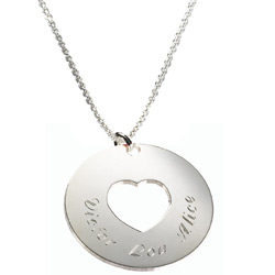 Engraved Heart and Soul Necklace