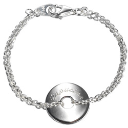 Name Engraved Medal Chain Bracelet