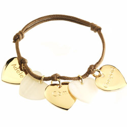 Engraved Family Pride Gold Plated Bracelet