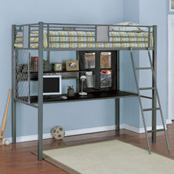 Monster Metal Twin Study Loft Bed