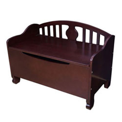 KidKraft Queen Anne Toy Bench in Cherry
