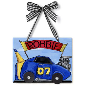 Race Car Name Plaque
