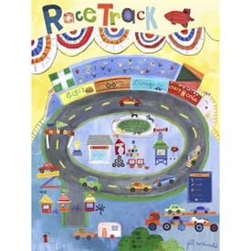 Race Track Stretched Art