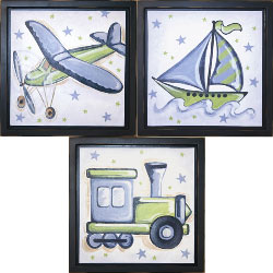 Transportation Stars Wall Art Collection