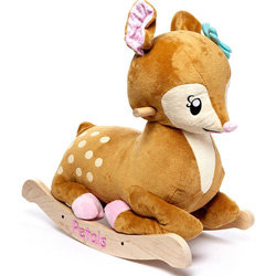 Personalized Petals Fawn Rocker