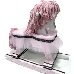 Pink Damask Princess Rocking Horse