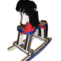 Giddy Up Western Rocking Horse