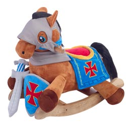 Personalized Knights Horseback Plush Rocker