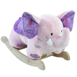 Personalized Bella the Pink Elephant Rocker