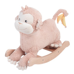 Personalized Momo the Monkey Plush Rocker