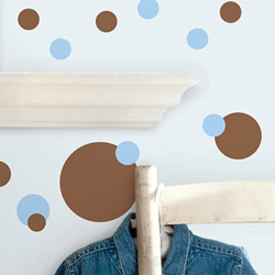 Blue and Brown Dots Wall Decal