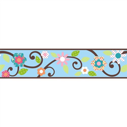 Floral Scroll Peel & Stick Border