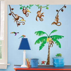 Monkey Business Wall Decals