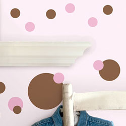 Pink and Brown Dots Wall Decal