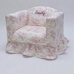 Personalized Ruffled Children's Chair