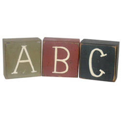 ABC Rustic Blocks