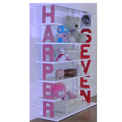 Custom Personalized Kids Bookshelf