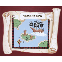 Pirate's Treasure Map Wall Art