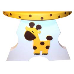 Personalized Giraffe Step Stool