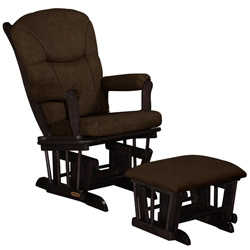 Rich Chocolate Glider and Ottoman