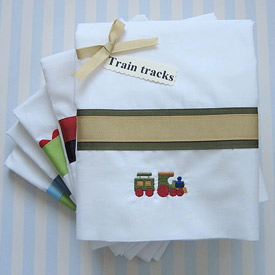 Train Tracks Twin/Full Sheet Set