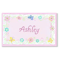 Spring Theme Name Plaque