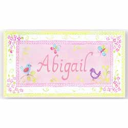 Pretty Birds Name Plaque
