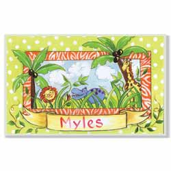 Wild Jungle Name Plaque