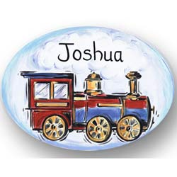 Train Baby Name Plaque