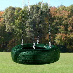 Single Axis Plastic Tire Swing