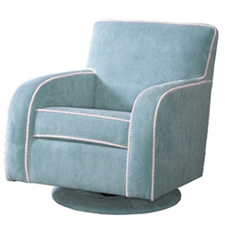 Track Arm Upholstered Swivel Glider