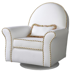 Round Back Swivel Glider