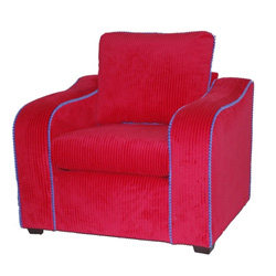Red Upholstered Kids Chair