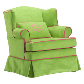 Child's Upholstered Wingback Chair