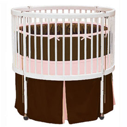 Solid Color Round Crib Bedding