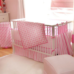 Modern Dots Crib Bedding