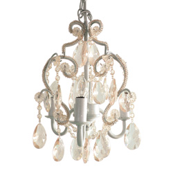 3 Bulb Ornamented Chandelier