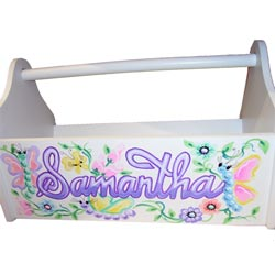 Personalized Springtime Toy Caddy