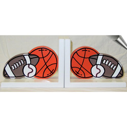 Orange Sports Bookends