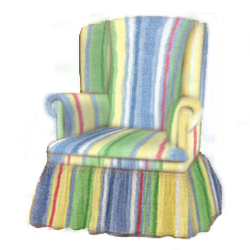 Kid's Shadow Stripe Swivel Chair