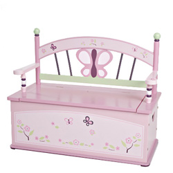 Sugar Plum Toy Box Bench