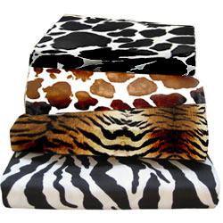 Round Crib Animal Print Cotton Sheet
