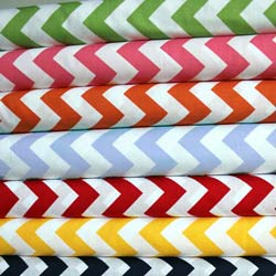 Round Crib Chevron Zigzag Cotton Sheet