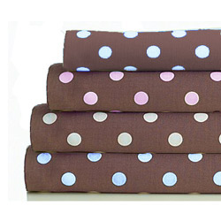Chocolate Dots Cotton Porta Crib Sheet
